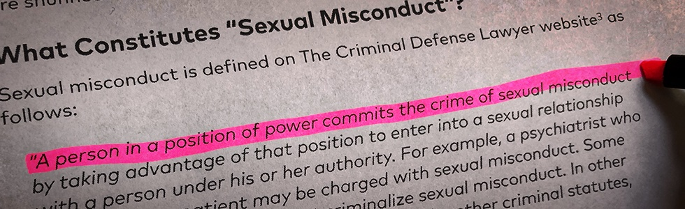 Definition: Sexual Misconduct