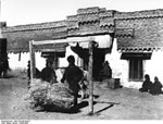 Bundesarchiv Bild 135-BB-044-01, Tibetexpedition, Haus Und Tibeter In Phari Dzong